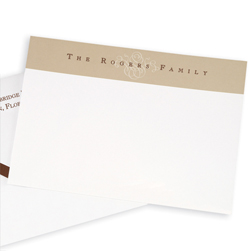 Brown Scroll Delicate Card